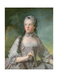 Portrait of Adelaide De France (1732-1800) with a Fan, 1749 Giclee Print by Jean-Marc Nattier