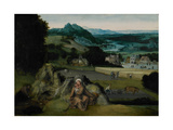 The Rest on the Flight into Egypt (The Miraculous Field of Wheat) C.1518-24 Giclee Print by Joachim Patinir