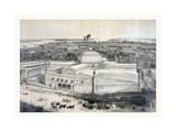 Birds Eye View of the New York Crystal Palace and Environ, 19th Century, USA, America Giclee Print by John Bachmann