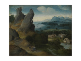 Landscape with the Flight into Egypt, 1516-17 Giclee Print by Joachim Patenier