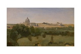 View of St. Peter'S, Rome, 1826 Giclee Print by Jean Baptiste Camille Corot