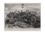 Into the Jaws of Death, How the Victoria Cross Was Won at the Battle of Colenso Giclée-tryk af John Charlton