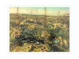 Birds Eye View of Greenwood Cemetery Near New York, USA, America Giclee Print by John Bachmann