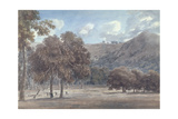 Il Parco Da Degle' Astroni - the Wooded Crater Bottom with Hunt in Progress Giclee Print by John Robert Cozens