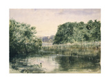 View of a Lake with Trees, 1857 Giclee Print by John William Inchbold