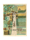 Bird's Eye View of the Village of Secoton, 1590 Giclee Print by John White
