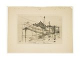 The Old Toll House at Bridgeport (Small Plate), 1888-1889 Giclee Print by John Henry Twachtman