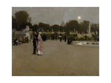 Luxembourg Gardens at Twilight, 1879 Giclee Print by John Singer Sargent