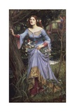 Ophelia, 1910 Giclee Print by John William Waterhouse