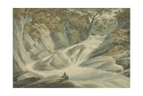 Hafod: Upper Part of the Cascade, 1793 Giclee Print by John Warwick Smith