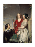 The Evening Hour, Exh. 1847 Giclee Print by John Faed
