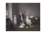 John Richard Comyns of Hylands Essex, with His Daughters, 1775 Giclee Print by John Greenwood