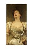 Mrs George Batten Singing, 1895 Giclee Print by John Singer Sargent