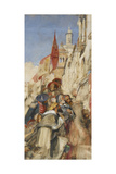 Study for the Proclamation of Don Carlos Giclee Print by John Frederick Lewis