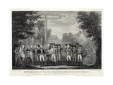 The British Surrendering their Arms to General Washington after the Defeat at York Town in Virginia Giclee Print by John Francis Renault