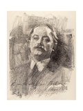 Portrait of Albert Belleroche, 1905 Giclee Print by John Sargent Noble