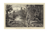 Trout Fishing, the First Cast of the Season Giclee Print by John Evan Hodgson