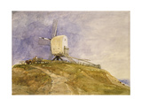 Windmill on a Hill, 19th Century Giclee Print by John Sell Cotman