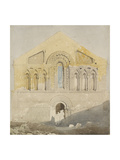 West Front of Castle Rising Church, Norfolk (Watercolour with Graphite) Giclee Print by John Sell Cotman
