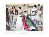 Les Dames Artistes, Published by Rodwell and Martin, 1820 Giclee Print by John James Chalon