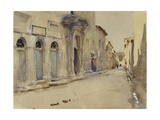 A Street in Spain (Watercolour over Graphite with Touches of Bodycolour) Giclee Print by John Singer Sargent