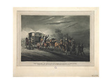 The Capture of Bonaparte's Carriage, Papers and Treasure by Major Von Keller, 1816 Giclee Print by John Heaviside Clark