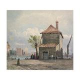 The Horse Ferry, Millbank Giclée-Druck von John Varley