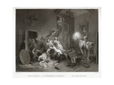 The Ghost - a Christmas Frolic - Le Revenant, Printed 1814 (Stipple) Giclee Print by John Massey Wright