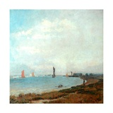 Poole Harbour, C.1900-08 Giclee Print by John William Buxton Knight