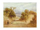 A Dusty Road, 1868 Giclee Print by John Linnell