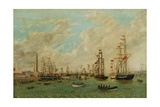 Opening of Tyne Dock, 3rd March 1859 Giclee Print by John Scott