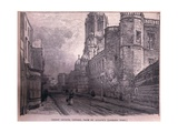Christchurch, Oxford, from St Aldate's (Looking West) Giclee Print by John Fulleylove
