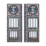 A Pair of Leaded Glass Windows Giclee Print by John La Farge