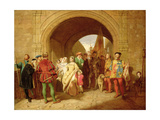 Queen Margaret's Defiance of the Scottish Parliament, 1859 Giclee Print by John Faed