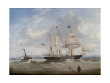 The Sailing Ship 'Anne' Leaving the River Tyne, 1859 Giclee Print by John Scott