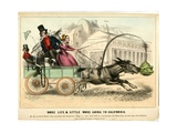 Mose, Lize, and Little Mose Going to California, 1849 Giclee Print by John L. Magee