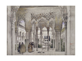 The Court of the Lions (Patio De Los Leones) Giclee Print by John Frederick Lewis