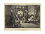 A Barber's Shop in Tunis Giclee Print by John Evan Hodgson