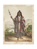 Araucanian Chief, 1855 Giclee Print by John Mix Stanley