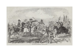 Pony-Races on Blackheath Giclee Print by John Leech