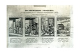 The Drunkard's Progress, 1826 Giclee Print by John Warner Barber