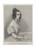 Princess Victoria, in 1834 Giclee Print by John Rogers Herbert