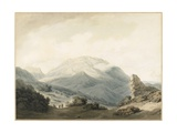 Mount Parnassus from the Road Between Livadia and Delphi, C. 1790 Giclee Print by John Robert Cozens