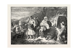 Exhibition of the Royal Academy: the Spae-Wife of the Clachen, UK, 1851 Giclee Print by John Phillip