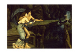 Orpheus and Eurydice on the Banks of the River Styx Giclee Print by John Roddam Spencer Stanhope