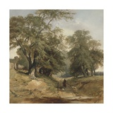 A Landscape with a Horseman, C.1850 Giclee Print by John Middleton