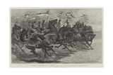 Halt!, Charge of Lancers at the Royal Military Tournament Giclee Print by John Charlton