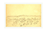 Boston, Charlestown and Bunker Hill as Seen from the Fort at Roxbury, 1828 Giclee Print by John Rubens Smith