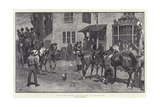 The Coaching Season, Changing Horses at a Wayside Inn Giclee Print by John Charlton