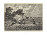 The Barley Harvest Giclee Print by John Linnell